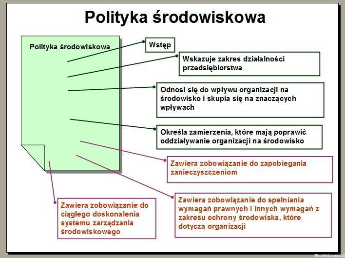 Polityka środowiskowa dla firmy